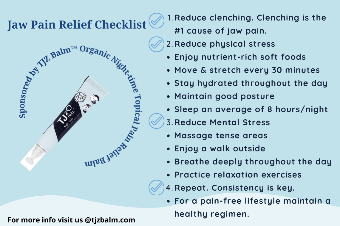 Jaw Pain Relief Checklist