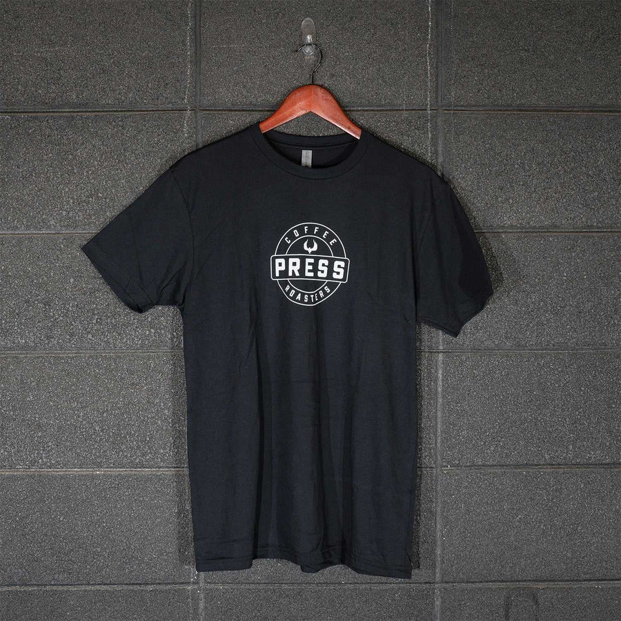 PRESS Round Logo Tee - Black