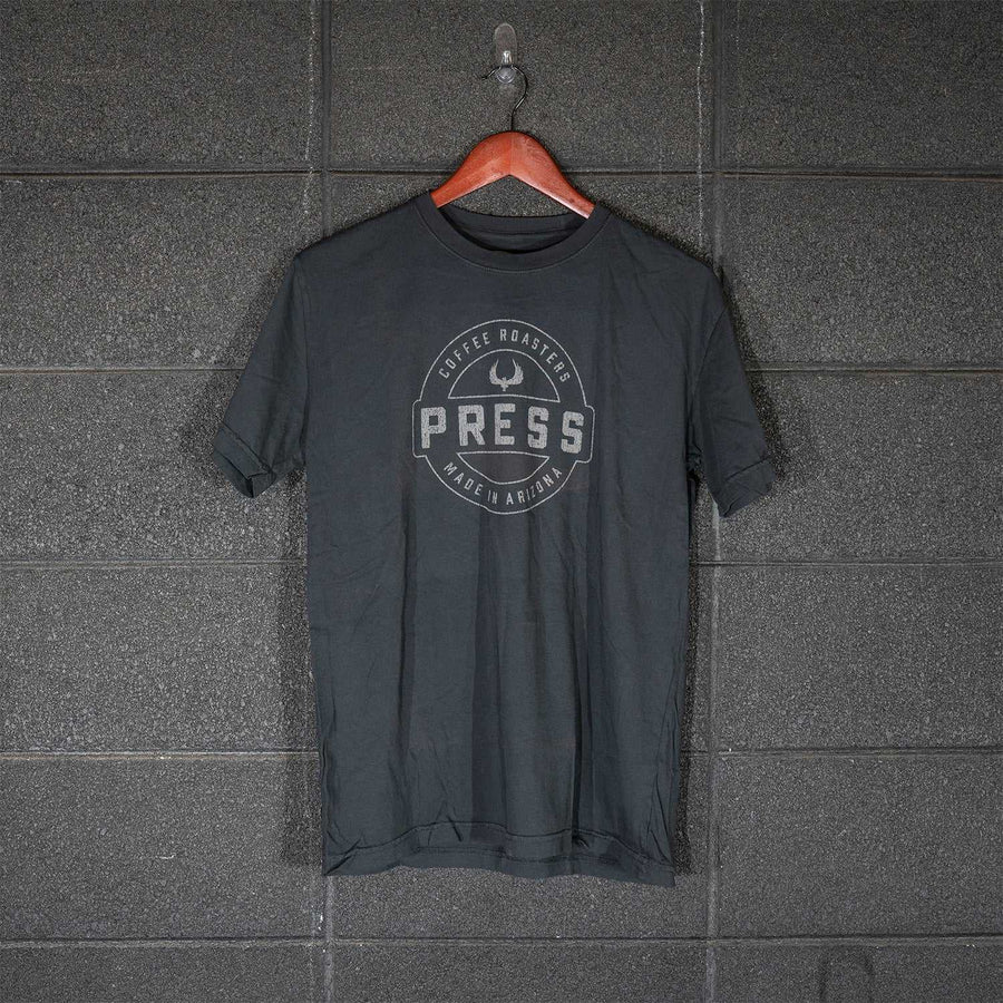 PRESS Round Logo Tee - Grey