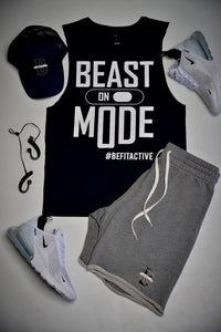 "Men's ""BEAST MODE ON"" Sleeveless Muscle Tank Top"