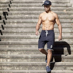 Men's Mid-Waist Fleece Workout Shorts