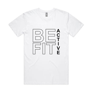 MEN'S ''BE-FIT ACTIVE'' SQUARE SLEEVELESS TANK T-SHIRT