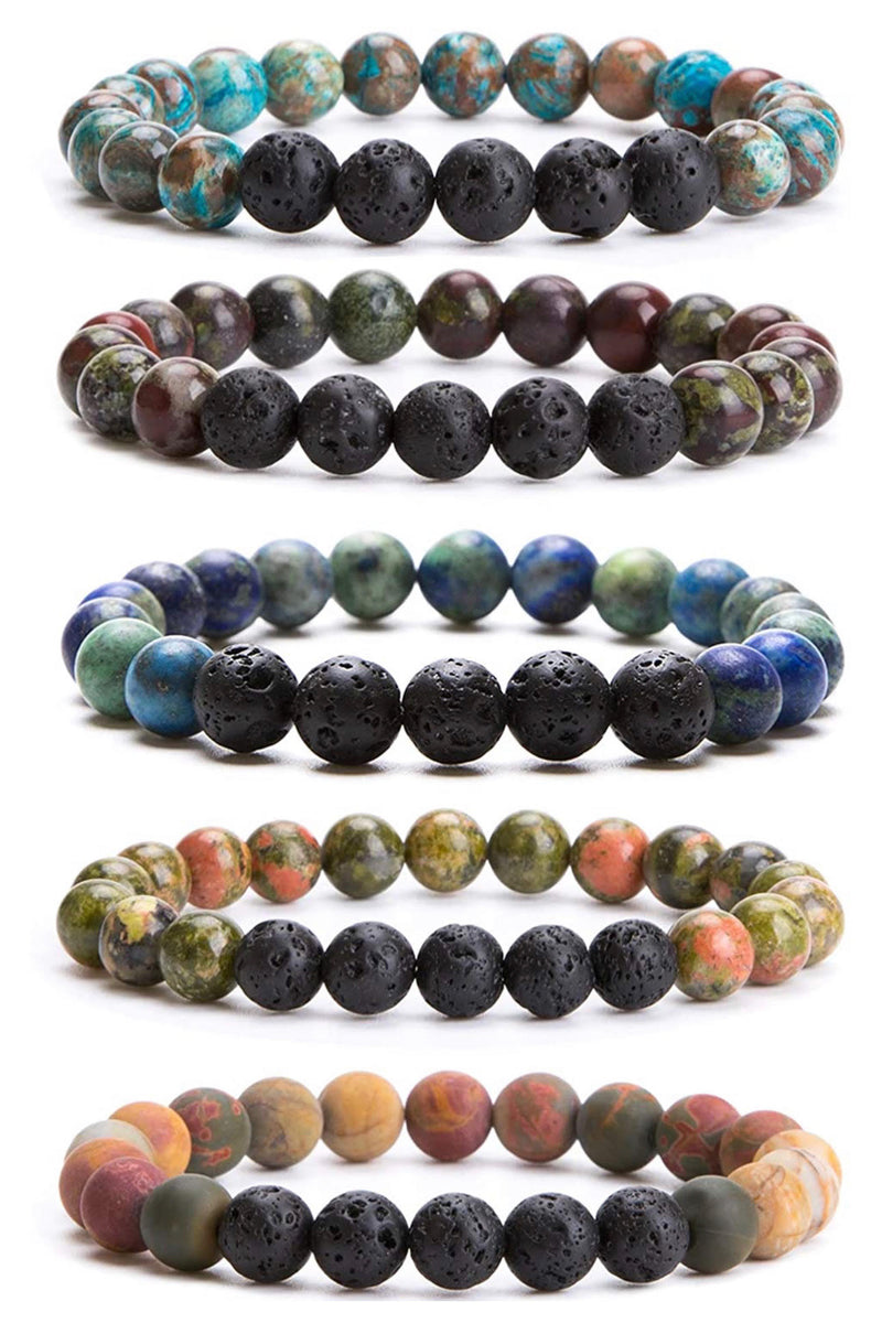 Lava Rock Stone Rakhi Set of 5