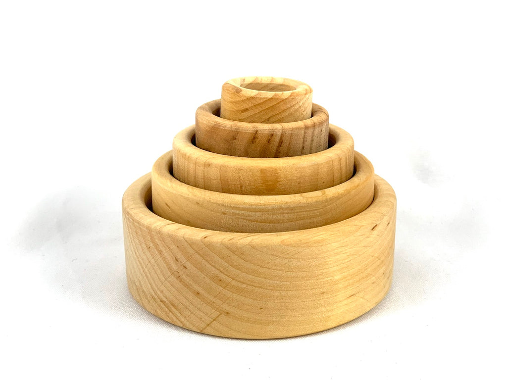 Natural nesting bowls