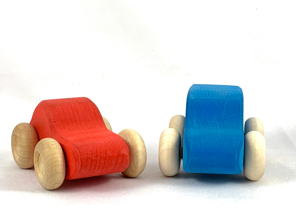 Cars (blue and red)