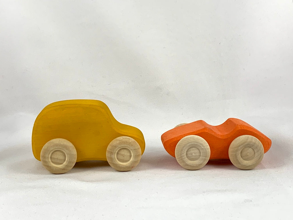 Cars (yellow and orange)
