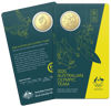 Australian Olympic Team - 50c Gold Plated Uncirculated Carded Coin 2020