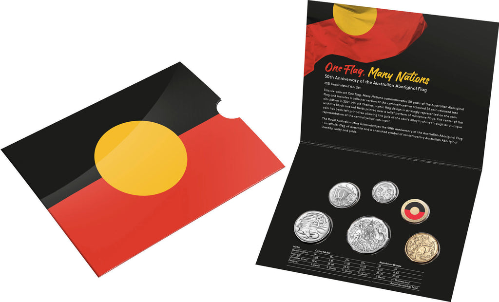 50 Years of the Aboriginal Flag - 6 Coin Set - 2021