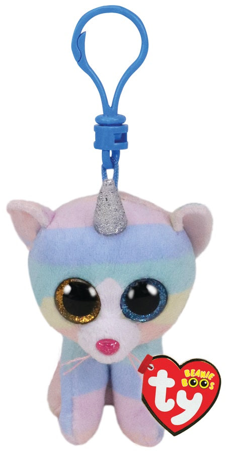 BEANIE BOOS CLIP ONS HEATHER CAT W/HORN