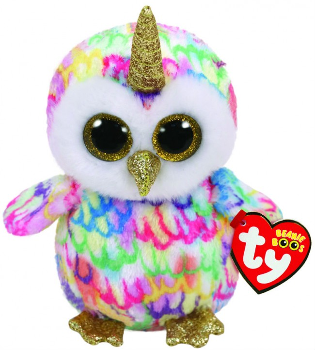 BEANIE BOOS REGULAR ENCHANTED - OWL WITH HORN