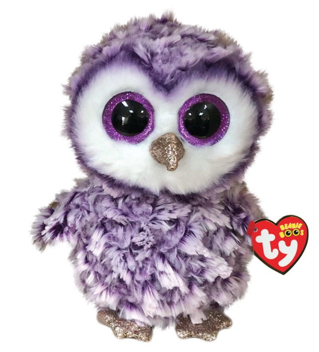 BEANIE BOOS REGULAR MOONLIGHT PURPLE OWL