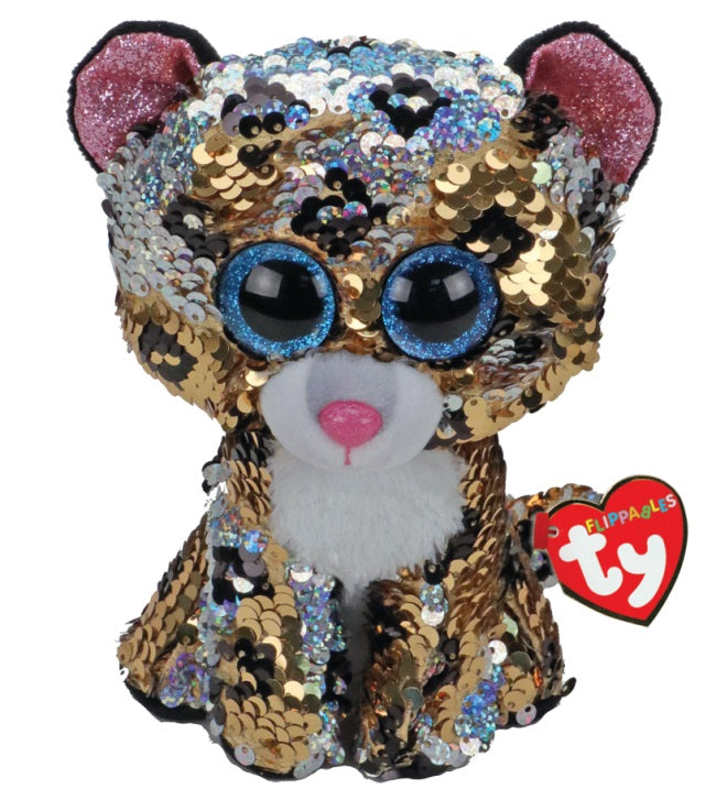 BEANIE BOOS REGULAR FLIPPABLE STERLING LEOPARD