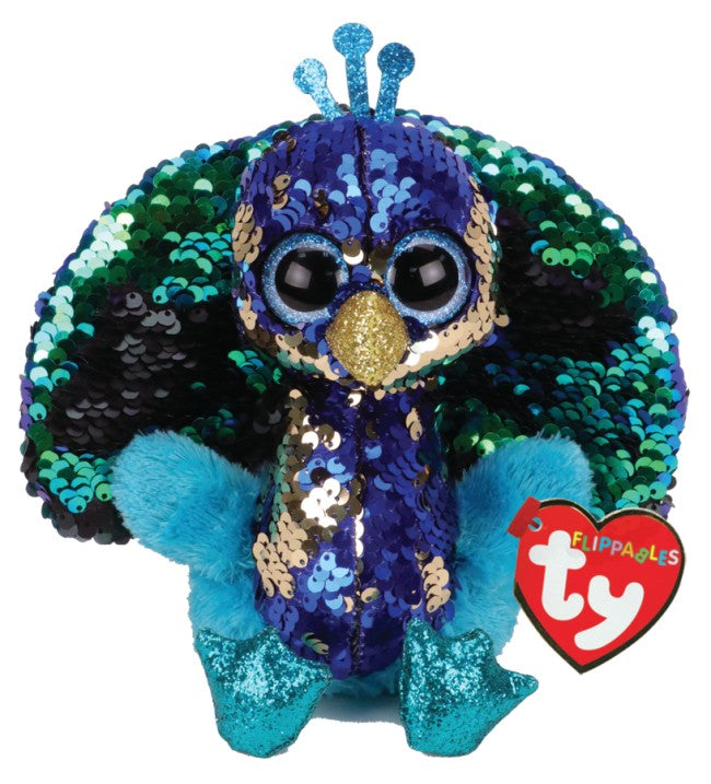Tyson - Peacock - Regular Flippable - TY Beanie Boo