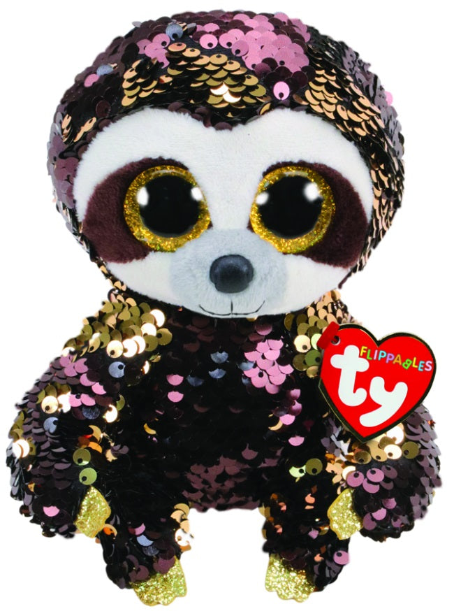 BEANIE BOOS FLIPPABLE SEQUIN DANGLER SLOTH