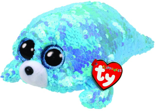 BEANIE BOOS FLIPPABLE SEQUIN REGULAR WAVES SEAL