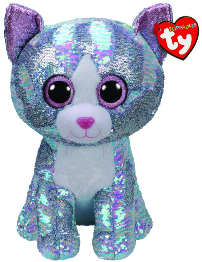 BEANIE BOOS FLIPPABLE LARGE WHIMSY BLUE CAT