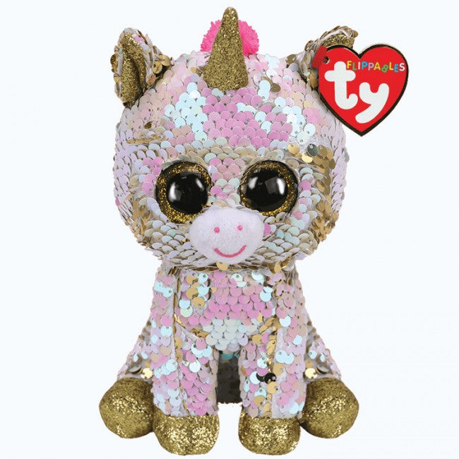 Fantasia - Unicorn - Medium Flippable - TY Beanie Boo