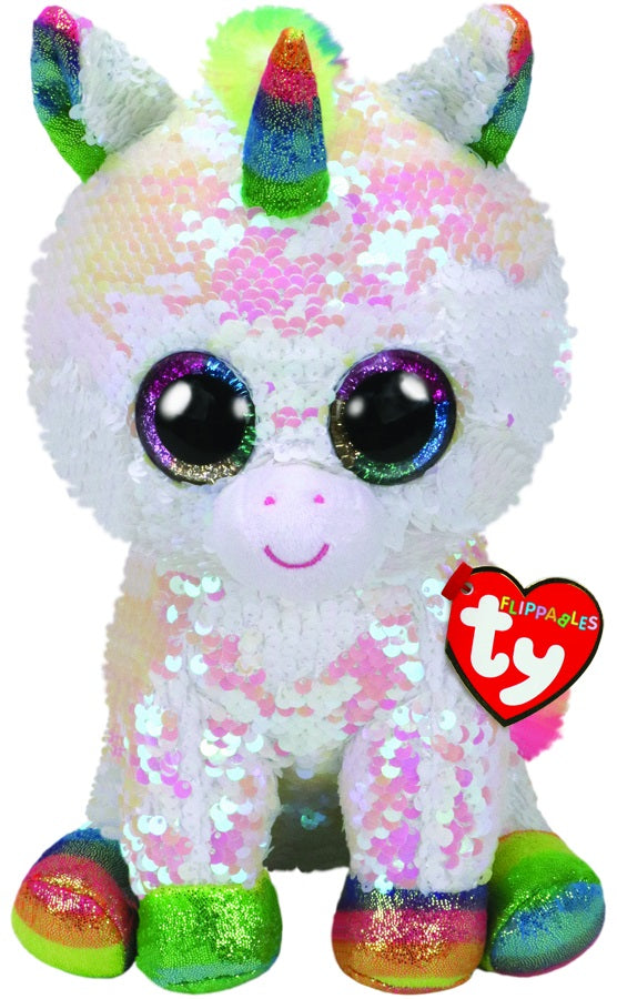 BEANIE BOOS FLIPPABLE SEQUIN MEDIUM PIXY UNICORN