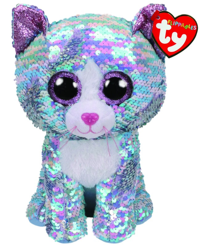 BEANIE BOOS FLIPPABLE SEQUIN BLUE CAT