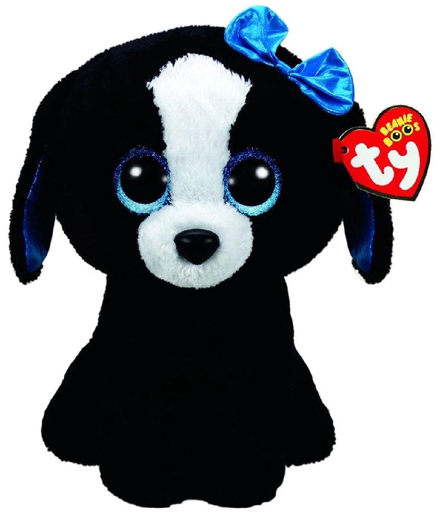 BEANIE BOO LARGE TRACEY BLACK WHITE DOG