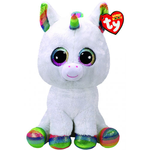 BEANIE BOOS LARGE PIXY - WHITE UNICORN