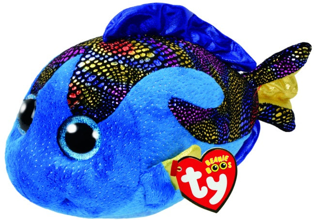 BEANIE BOOS MEDIUM AQUA - BLUE FISH