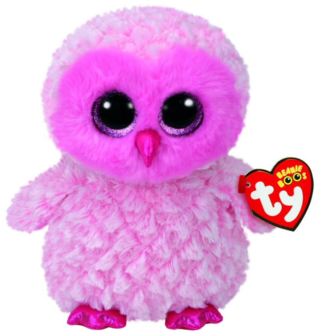 BEANIE BOOS MEDIUM TWIGGY - PINK OWL