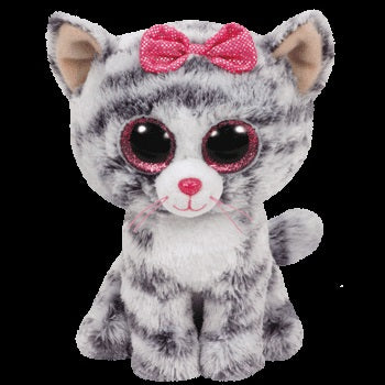BEANIE BOOS REGULAR KIKI - GREY CAT