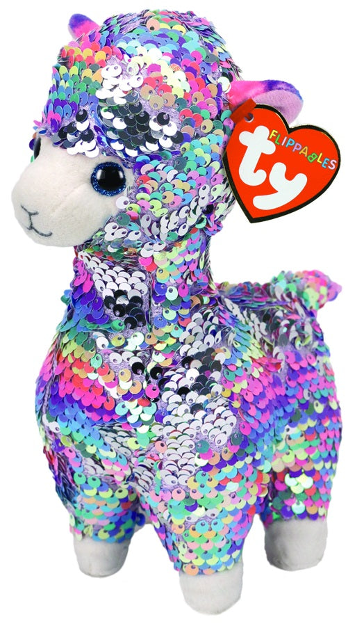 Lola - Llama - Medium Flippable - TY Beanie Boo