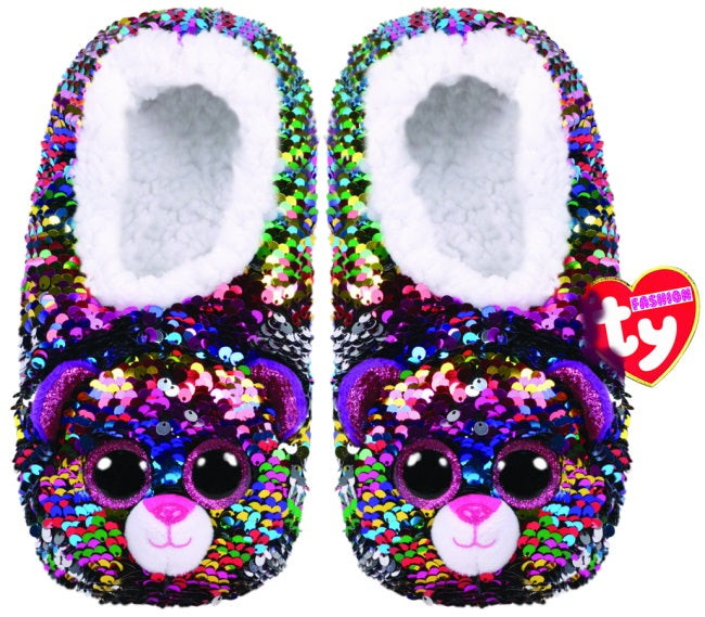 TY FASHION SEQUIN SLIPPERS DOTTY - MEDIUM