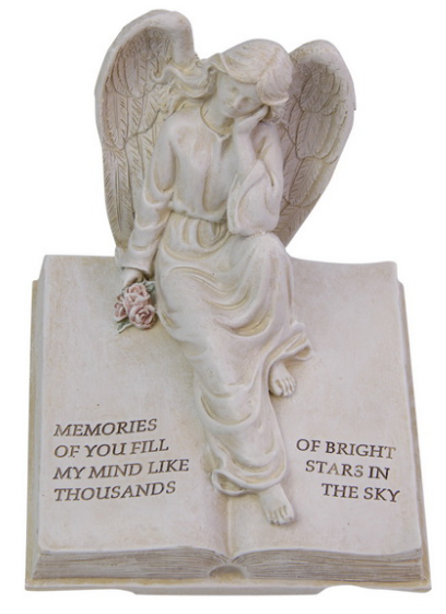 18cm Angel on Inspirational Book