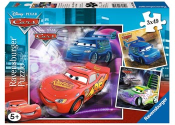 PUZZLE RAVENSBURGER 3X49 PIECE DISNEY CARS