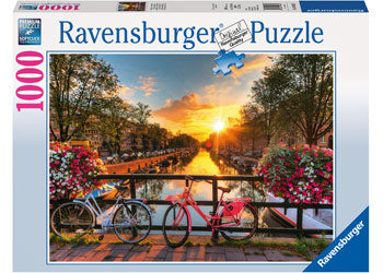 PUZZLE RAVENSBURGER 1000 PIECE BICYCLES IN AMSTERDAM