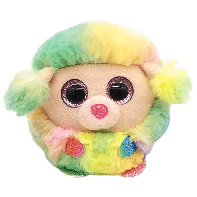 Ty Puffies Rainbow - Multicoloured Poodle