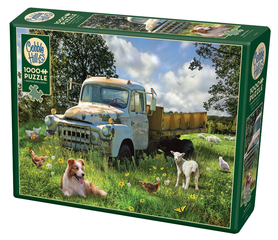 1000 Piece - Sheep Field - Cobble Hill - Jigsaw Puzzle
