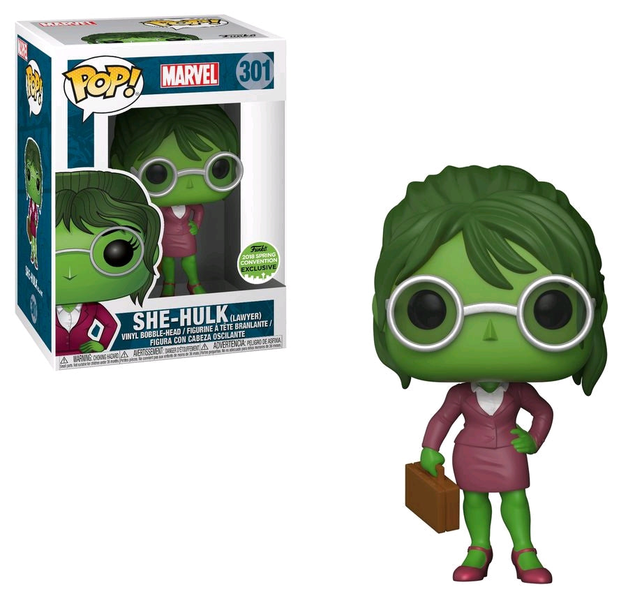 POP VINYL MARVEL COMICS SHE-HULK (LAWYER) #301 SPRING CONVENTION EXCLUSIVE