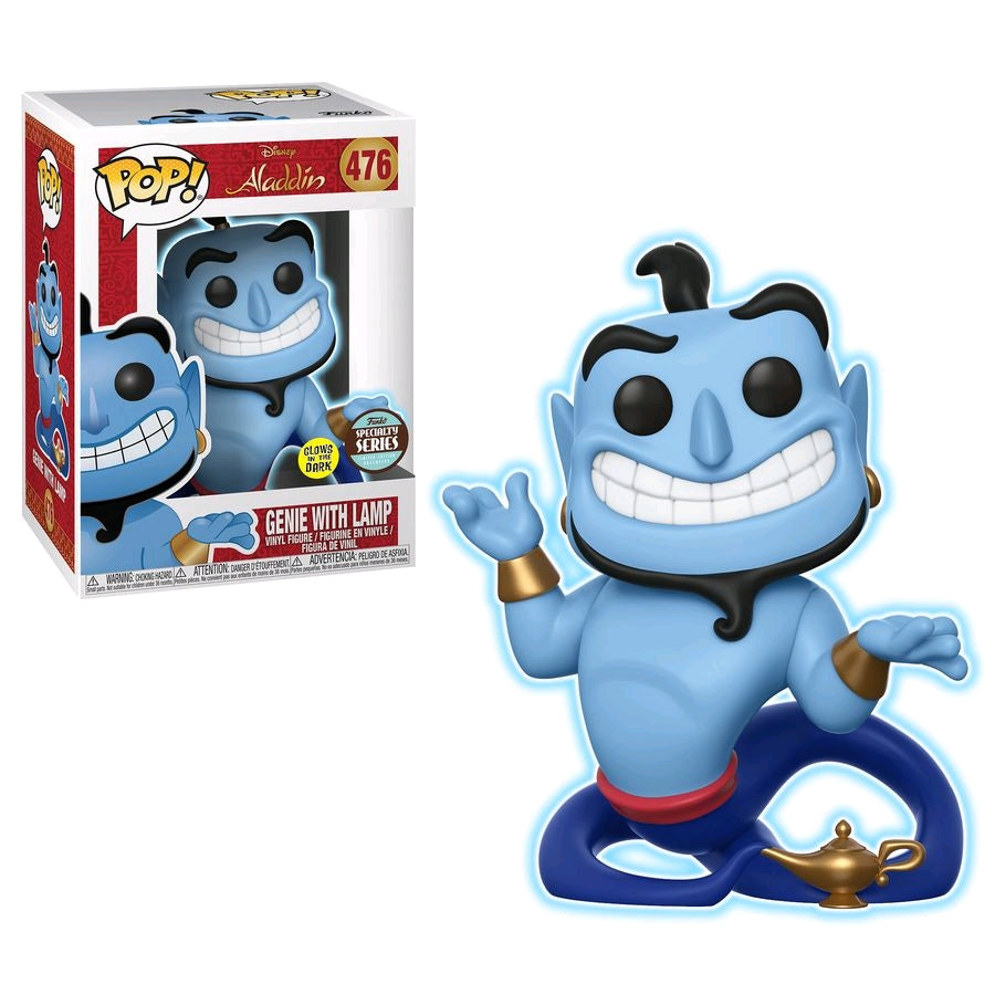 Disney Aladdin - Genie W/Lamp - #476 - Glow in the Dark - Pop! Vinyl