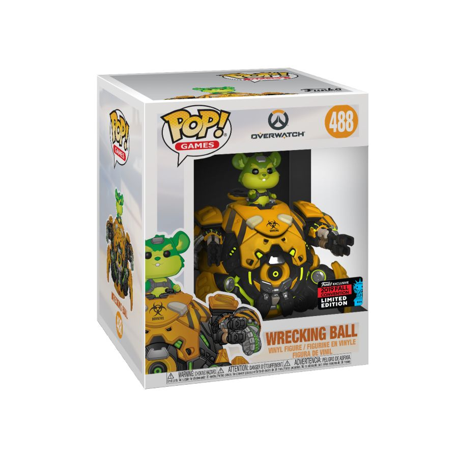 POP VINYL NYCC19 OVERWATCH TOXIC WRECKING BALL #488 6 INCH