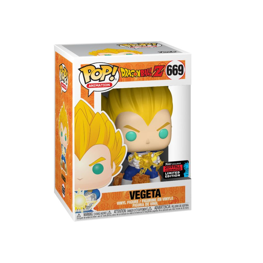 Dragonball Z - Vegeta Final Flash - #669 - NYCC19 - Pop! Vinyl