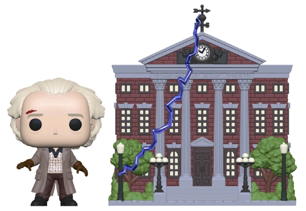 Back to the Future - Doc W/Clock Tower - # - Town - Pop! Vinyl