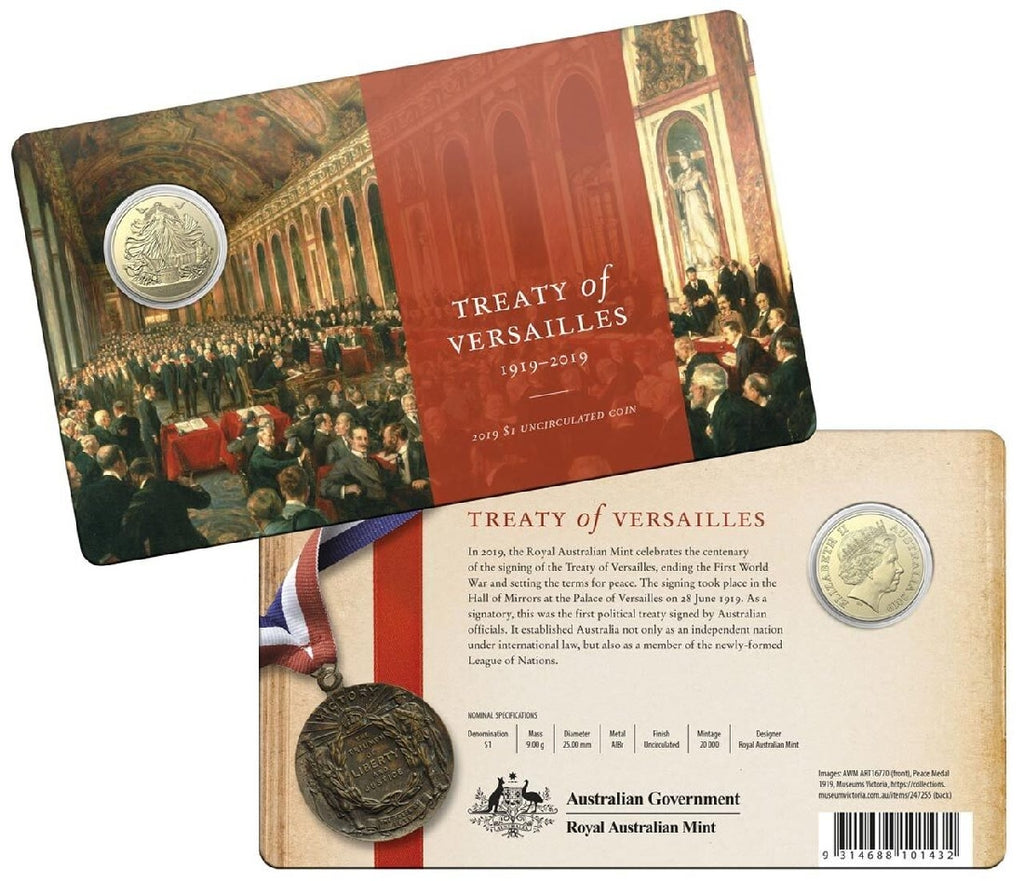 RAM CENTENARY OF THE TREATY OF VERSAILLES $1 UNCIRCULATED