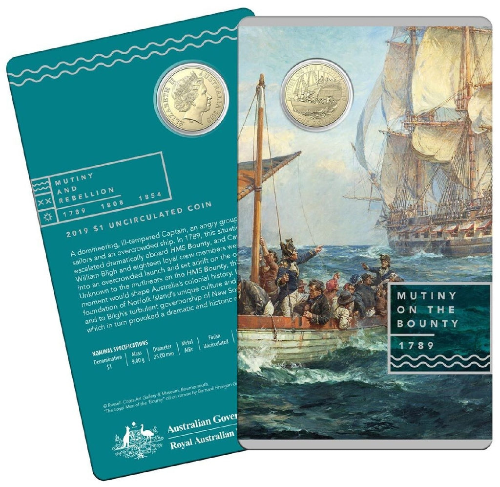 RAM MUTINY & REBELLION THE BOUNTY $1 UNCIRCULATED COIN