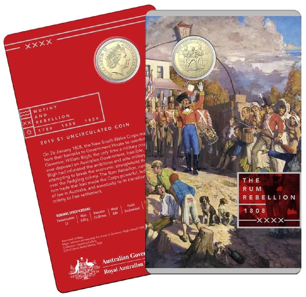 COIN PACK $1 UNC 2019 ALBR MUTINY & REBELLION THE RUM REBELLION