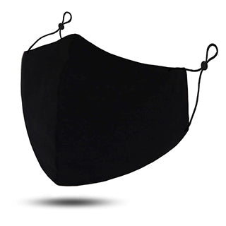 MASKiT - Triple Layered Cotton Mask - Reusable - Black Pop - 3x Disposable Filters