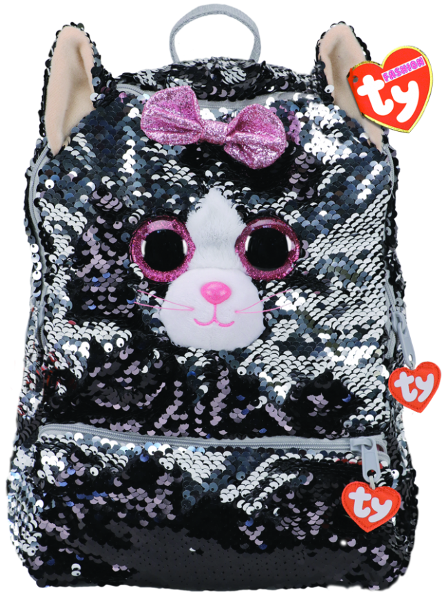 Ty Fashion Backpack Sequin Kiki - Grey Cat