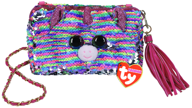 Ty Fashion Square Purse Sequin Elise - Unicorn