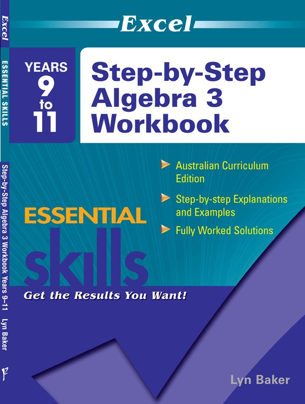 EXCEL ESSENTIAL SKILLS STEP BY STEP ALGEBRA 3