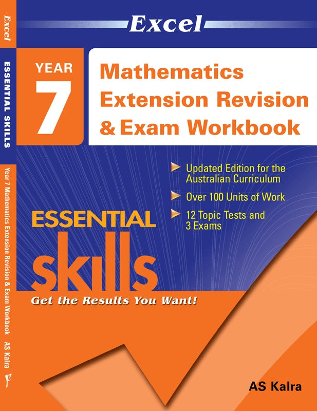 EXCEL MATH REV EXAM WORKBOOK 2 YEAR 7