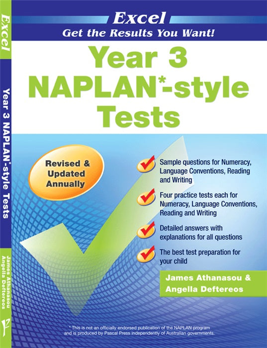 EXCEL NAPLAN STYLE TESTS YEAR 3