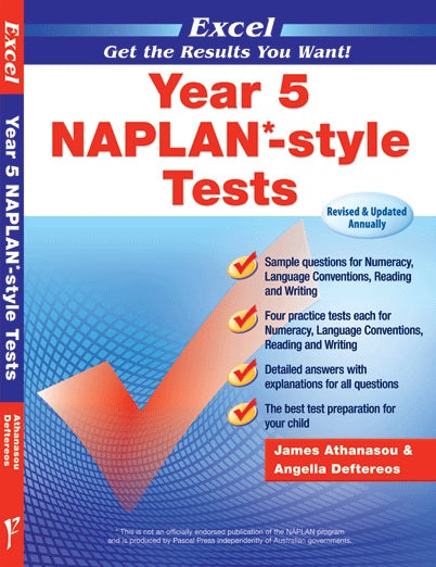 Naplan - Tests - Year 5 - Excel